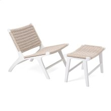 Carter Woven Teak Chair with Ottoman - Set of 2