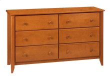 "Rossport 6 Drawer Dresser 52"" Wide"