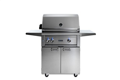 """30"""" Lynx Professional Freestanding Grill with 1 Trident and 1 Ceramic Burner and Rotisserie, LP"""