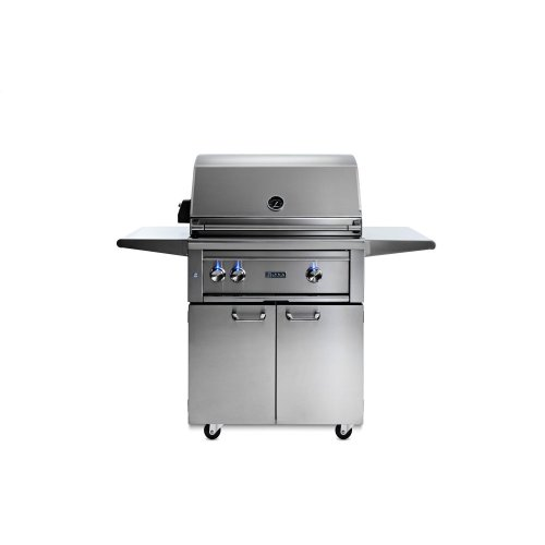 "30"" Lynx Professional Freestanding Grill with 1 Trident and 1 Ceramic Burner and Rotisserie, LP"