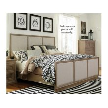 King Upholstered Bed in Taupe Gray
