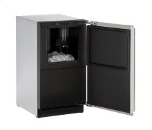 "Modular 3000 Series 18"" Clear Ice Machine With Stainless Solid Finish and Field Reversible Door Swing"