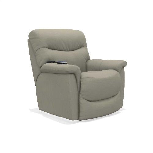 James Power Rocking Recliner w/ Head Rest & Lumbar