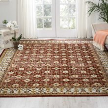 Aria Ar002 Red Rectangle Rug 7'10'' X 10'