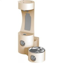 Elkay Outdoor EZH2O Bottle Filling Station Wall Mount, Non-Filtered Non-Refrigerated, Beige