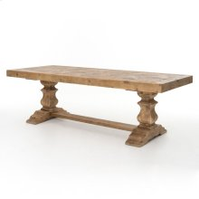 "Castle 98"" Dining Table-bleached Pine"