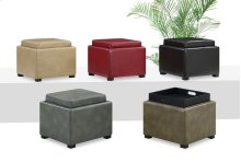 Flip Top Storage Ottoman Wood Tray Top Olive