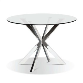 Darron - Round Glass Top Dining Table