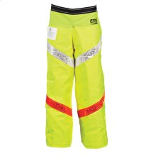 Reflective Apron Chaps designed for work along roadways.