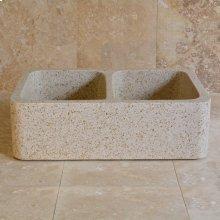 Polished Front Farmhouse Sinks Beige Granite
