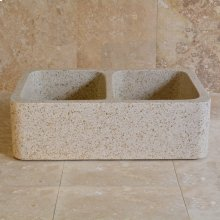 Polished Front Farmhouse Sinks Beige Granite