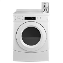 """27"""" Commercial Electric Front-Load Dryer Featuring Factory-Installed Coin Drop with Coin Box"""