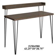Cody 2 Tier Wood and Metal Desk