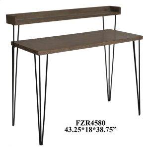 CRESTVIEW COLLECTIONSCody 2 Tier Wood and Metal Desk