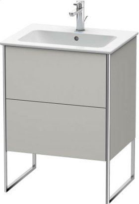 Vanity Unit Floorstanding, Concrete Grey Matt Decor