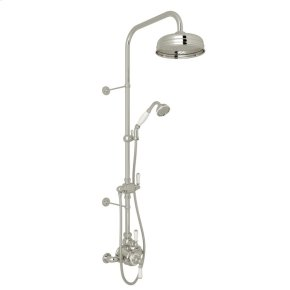 Polished Nickel Edwardian U.KIT1NL Thermostatic Shower Package with Metal Lever