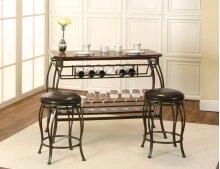 Y2798-99  Warner-wood Veneer 3pc Pub Set