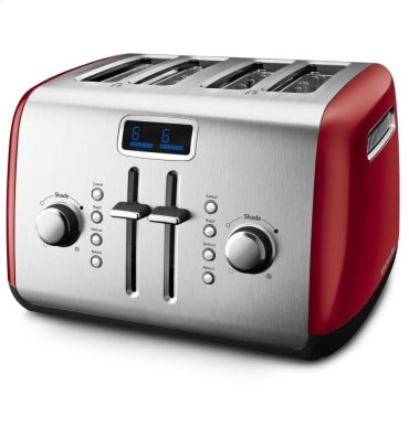 4-Slice Toaster with Manual High-Lift Lever and Digital Display - Empire Red
