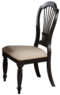 Wilshire Dining Side Chair Rubbed Black Product Image