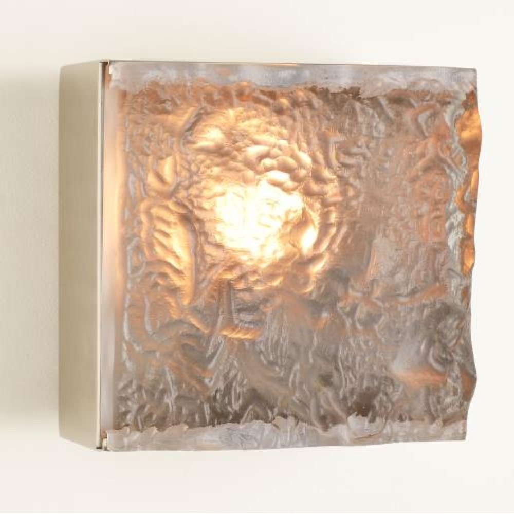Cube Sconce-Satin Nickel-HW