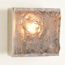 Cube Sconce-Satin Nickel-HW