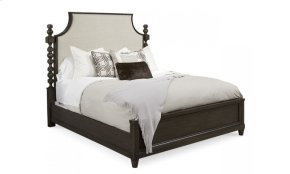 Morrissey Eastern King Healey Upholstered Panel Bed Thistle