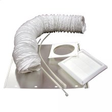 "4"" x 5' Dryer Vent Kit with Louvered White Hood"