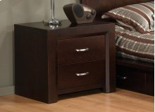 Contempo 2 Drawer Nightstand