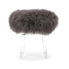 Airell Tibetan Fur and Acrylic Stool