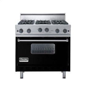 "Black 36"" Open Burner Range - VGIC (36"" wide, six burners)"