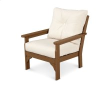 Teak & Antique Beige Vineyard Deep Seating Chair