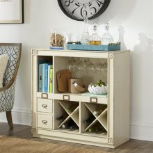 Huntleigh - Bar Console - Vintage White Finish
