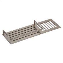 "Satin Nickel 14"" Combination Shower Shelf"