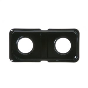 GEGAS RANGE DOUBLE DRIP PAN - LEFT - BLACK PORCELAIN