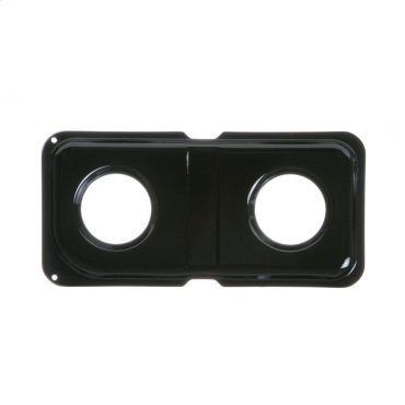 GAS RANGE DOUBLE DRIP PAN - LEFT - BLACK PORCELAIN