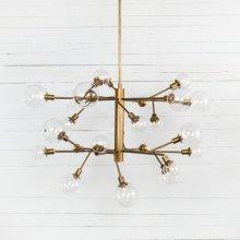 Pellman 2 Tier Chandelier-matte Brass