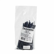 6 Inch Black Cable Tie Package of 100