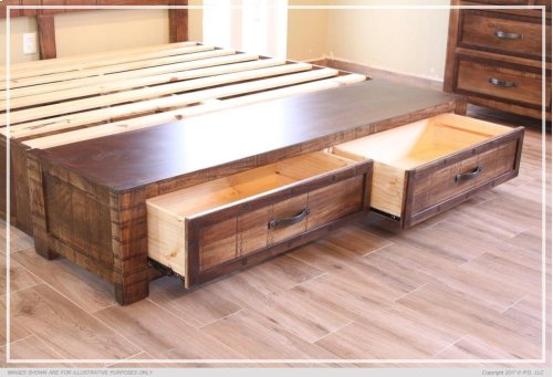 6/0 Footboard Storage & 6/0 Rails -Shipped together w/footboard storage