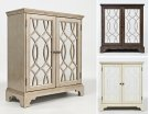 "Casa Bella 32"" Accent Cabinet- Chestnut With Vintage Silver Product Image"