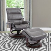 Knight Ice Manual Reclining Swivel Chair and Ottoman