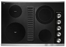 """30"""" Electric Downdraft Cooktop with 4 Elements - Stainless Steel"""