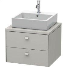 Brioso Vanity Unit For Console, Concrete Gray Matt Decor