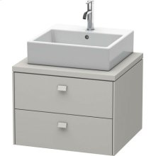 Brioso Vanity Unit For Console, Concrete Gray Matt Decor