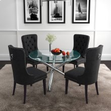Solara II/Rizzo 5pc Dining Set, Black