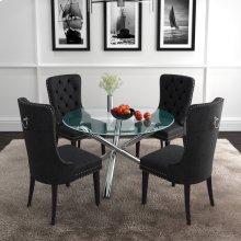 Solara II/Rizzo 5pc Dining Set, Black