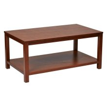"Merge 42"" Rectangular Cocktail Table (cherry))"