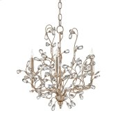 Crystal Bud Silver Small Chandelier