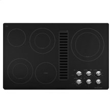 "KitchenAid® 36"" Downdraft Electric Cooktop with 5 Elements - Black"