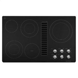 "Kitchenaid Kitchenaid® 36"" Downdraft Electric Cooktop With 5 Elements - Black"