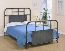 Cheriton Bed - Full, Antique Black Finish